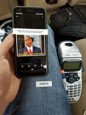 Dart: 12:20  0LTE 84%  WHEN YOU DONT HAVE PHOTOSHOP  BUT YOU HAVE A LABELMAKER  cabbygato  DYMO  etra Tag  Modern problems require modern solutions  LABEL MAKER  I  Sellings  Forma  Insert  PANTS  E  D  H  NO  DART  B Dart