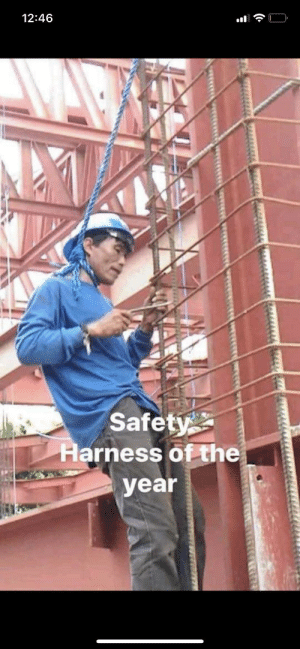 meirl: 12:46  Safety  Harness of the  year  ( meirl