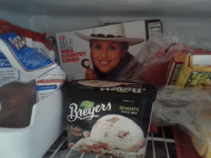Ass, Fucking, and Starbucks: 12  BLUE  BELL  COUNTRY  CONES  QUALITY  SINCE 1866  Pecan fly-me-to-starbucks:Every time I open the freezer I fucking see this woman smiling at me with her small ass fucking ice cream cone