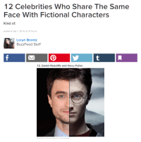 """Daniel Radcliffe, Harry Potter, and Tumblr: 12 Celebrities Who Share The Same  Face With Fictional Characters  Kind of  posted on Apr. 1,2015, at 10:14 p.m  Loryn Brantz  BuzzFeed Staff  12. Daniel Radcliffe and Harry Potter  etty Iage <p><a href=""""http://memehumor.net/post/160106285548/i-think-theyre-on-to-something"""" class=""""tumblr_blog"""">memehumor</a>:</p>  <blockquote><p>I think they're on to something!</p></blockquote>"""