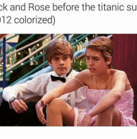 Memes, Titanic, and Power: 12 colorized)  the titanic su  ok and Rose before Power couple 😂