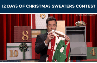 """Christmas, Target, and Ugly: 12 DAYS OF CHRISTMAS SWEATERS CONTEST   #FALLONTONIGHT  10  4 <p><strong>WE WANT TO GIVE YOU A CHRISTMAS SWEATER!</strong></p> <p>Tweet us a photo of yourself in your best (worst) holiday sweater with the hashtag <strong>#12DaysOfChristmasSweatersContest</strong>and mention<strong>@FallonTonight</strong>in the tweet to enter.</p> <p>We have 10 ugly holiday sweaters to give away and will choose winners between now and December 19th!</p> <p><a href=""""http://www.nbc.com/the-tonight-show/blogs/85391"""" target=""""_blank"""">Here&rsquo;s all the rules and regulations!</a>(Basically, you must be 18+ and live in the U.S. There is no purchase necessary.)</p> <p>Let&rsquo;s see those ugly sweaters!</p>"""