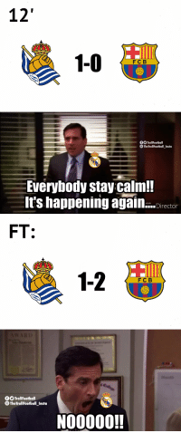 Real Madrid fans today https://t.co/mPHCP1sr60: 12  FC B   f TrollFootball  TheTrollFootball_Insta  Everybody stay calm!  It's happening again...ctor  erLink   FT:  1-2  FC B   0OTrollFootball  TheTrollFootball Insto  NO0000! Real Madrid fans today https://t.co/mPHCP1sr60
