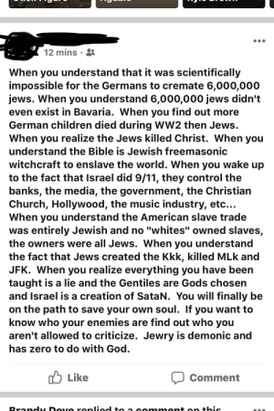 "9/11, Children, and Church: 12 mins .  When you understand that it was scientifically  impossible for the Germans to cremate 6,000,000  jews. When you understand 6,000,000 jews didn't  even exist in Bavaria. When you find out more  German children died during WW2 then Jews.  When you realize the Jews killed Christ. When you  understand the Bible is Jewish freemasonic  witchcraft to enslave the world. When you wake up  to the fact that Israel did 9/11, they control the  banks, the media, the government, the Christian  Church, Hollywood, the music industry, etc...  When you understand the American slave trade  was entirely Jewish and no ""whites"" owned slaves,  the owners were all Jews. When you understand  the fact that Jews created the Kkk, killed MLk and  JFK. When you realize everything you have been  taught is a lie and the Gentiles are Gods chosen  and Israel is a creation of SataN. You will finally be  on the path to save your own soul. If you want to  know who your enemies are find out who you  aren't allowed to criticize, Jewry is demonic and  has zero to do with God  Like  Comment Always something with this guy 😂"