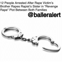 """12 People Arrested After Rape Victim's Brother Rapes Rapist's Sister in """"Revenge Rape"""" Plot Between Both Families– blogged by @MsJennyb ⠀⠀⠀⠀⠀⠀⠀⠀⠀ ⠀⠀⠀⠀⠀⠀⠀⠀⠀ On Saturday, a dozen people were arrested in Toba Tek Singh in connection to a """"revenge rape"""" plot between the families of a rape victim and the rapist. ⠀⠀⠀⠀⠀⠀⠀⠀⠀ ⠀⠀⠀⠀⠀⠀⠀⠀⠀ In docs filed by Pirmahal police, the victim, who is described as """"N,"""" was reportedly raped by 'W' of Gharibabad in Pirmahal. The incident occurred on March 20. ⠀⠀⠀⠀⠀⠀⠀⠀⠀ ⠀⠀⠀⠀⠀⠀⠀⠀⠀ However, the assailant's family asked for forgiveness in an attempt to make amends with the victim's family. In turn, """"N's"""" family provided terms of a reconciliation. In order for the families to settle their dispute, """"W"""" would agree to the """"revenge rape"""" of his sister. ⠀⠀⠀⠀⠀⠀⠀⠀⠀ ⠀⠀⠀⠀⠀⠀⠀⠀⠀ Under the conditions, """"N's"""" brother would commit the same act with """"W's"""" sister for reconciliation. In fact, 12 members of both families agreed to the terms, DAWN reports. The next day, the suspect's sister was raped. ⠀⠀⠀⠀⠀⠀⠀⠀⠀ ⠀⠀⠀⠀⠀⠀⠀⠀⠀ Officials found out about the rapes after the families prepared a stamp paper mentioning the incidents and their decision to forgo legal action against one another, the publication reports. Upon the new discovery, all 12 members were arrested in connection to the """"revenge rape"""" plot.: 12 People Arrested After Rape Victim's  Brother Rapes Rapist's Sister in """"Revenge  Rape"""" Plot Between Both Families  @balleralert 12 People Arrested After Rape Victim's Brother Rapes Rapist's Sister in """"Revenge Rape"""" Plot Between Both Families– blogged by @MsJennyb ⠀⠀⠀⠀⠀⠀⠀⠀⠀ ⠀⠀⠀⠀⠀⠀⠀⠀⠀ On Saturday, a dozen people were arrested in Toba Tek Singh in connection to a """"revenge rape"""" plot between the families of a rape victim and the rapist. ⠀⠀⠀⠀⠀⠀⠀⠀⠀ ⠀⠀⠀⠀⠀⠀⠀⠀⠀ In docs filed by Pirmahal police, the victim, who is described as """"N,"""" was reportedly raped by 'W' of Gharibabad in Pirmahal. The incident occurred on March 20. ⠀⠀⠀⠀⠀⠀⠀⠀⠀ ⠀⠀⠀⠀⠀⠀⠀⠀⠀ However, the assailant's family ask"""