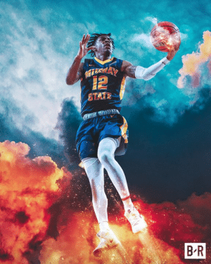 Murray State, Ast, and Pts: 12  STATE  B R Ja Morant carries No. 12 Murray State to the 2nd round   17 PTS 16 AST 11 REB  #MarchMadness