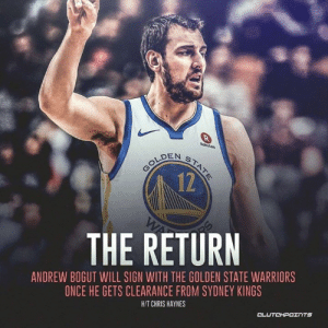 The former #1 pick is poised to make his NBA return 💯🇦🇺 __ Follow @warriorsnation_gs if you're a real Warriors fan!: 12  THE RETURN  ANDREW BOGUT WILL SIGN WITH THE GOLDEN STATE WARRIORS  ONCE HE GETS CLEARANCE FROM SYDNEY KINGS  HIT CHRIS HAYNES  CL The former #1 pick is poised to make his NBA return 💯🇦🇺 __ Follow @warriorsnation_gs if you're a real Warriors fan!