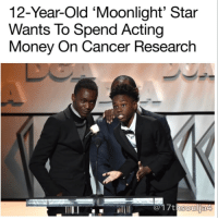 """Moonlight"" actor Alex R. Hibbert has big plans to heal the world. ""Moonlight"" actor Alex R. Hibbert has big plans to heal the world. Advertisement AdChoices In speaking with film site HeyUGuys.com, the 12-year-old actor dished on his early career aspirations to become a football player and a scientist in search of a cure for cancer. ""In middle school I didn't know what to do with my life,"" he said. ""I was a bit of a bad child, I'd always get in trouble because I had a lot of movement. But the drama program settled me down, I can use my movement for good."" The South Florida-native has earned praises from critics and co-stars for his performance of Little, a younger portrayal of the film's lead character Chiron, who struggles growing up in Miami's Liberty City neighborhood. Hibbert's ""Moonlight"" co-star Mahershala Ali called Hibbert the ""best"" scene partner he's ever worked with. Now with a bright acting career on the horizon, Hibbert went on to tell the site that he plans to put his earnings towards science. ""Football is out of the question now, but scientist-wise, I'm going to take most of my money… Wait, some of my money, and build a lab,"" he said. ""And I'm going to take the best scientists to work on curing cancer and stuff like that."" Kudos to Alex for making the world a better place! @lt_or_bust 17thsoulja blackexcellence BlackIG17th supportblackart supportblackyouth: 12-Year-Old 'Moonlight' Star  Wants To Spend Acting  Money On Cancer Research  soul ja4 ""Moonlight"" actor Alex R. Hibbert has big plans to heal the world. ""Moonlight"" actor Alex R. Hibbert has big plans to heal the world. Advertisement AdChoices In speaking with film site HeyUGuys.com, the 12-year-old actor dished on his early career aspirations to become a football player and a scientist in search of a cure for cancer. ""In middle school I didn't know what to do with my life,"" he said. ""I was a bit of a bad child, I'd always get in trouble because I had a lot of movement. But the drama program settled me down, I can use my movement for good."" The South Florida-native has earned praises from critics and co-stars for his performance of Little, a younger portrayal of the film's lead character Chiron, who struggles growing up in Miami's Liberty City neighborhood. Hibbert's ""Moonlight"" co-star Mahershala Ali called Hibbert the ""best"" scene partner he's ever worked with. Now with a bright acting career on the horizon, Hibbert went on to tell the site that he plans to put his earnings towards science. ""Football is out of the question now, but scientist-wise, I'm going to take most of my money… Wait, some of my money, and build a lab,"" he said. ""And I'm going to take the best scientists to work on curing cancer and stuff like that."" Kudos to Alex for making the world a better place! @lt_or_bust 17thsoulja blackexcellence BlackIG17th supportblackart supportblackyouth"
