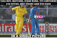 Memes, 🤖, and Crickets: 1224 INTL MATCHES, 61840 RUNS, 171 CENTURIES  310 FIFTIES, 6857 FOURS AND 510 SIXES  AUSTRALIA  RVCJ  WWW. RVCJ.COM  IN A SINGLE PICTURE Legends of cricket.. rvcjinsta