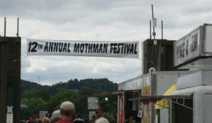 Chicken, Festival, and Mothman: 12TH ANNUAL MOTHMAN FESTIVAL  PULLED PORK  CHICKEN  2b BURGERS