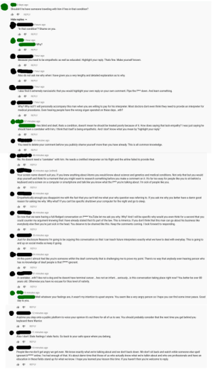 """America, Community, and Crazy: 13 days ago  Shouldn't he have someone traveling with him if hes in that condition?  REPLY  Hide replies  hours ago  """"In that condition""""? Shame on you.  REPLY  1 hour ago  Why?  REPLY  1 hour ago  Because you need to be empathetic as well as educated. Highlight your reply. Thats fine. Make yourself known.  REPLY  1 hour ago  Also do not ask me why when I have given you a very lengthy and detailed explanation as to why.  REPLY  hour ago  I also find it extremely narcissistic that you would highlight your own reply on your own comment. Pipe the f*** down. And learn something.  REPLY  1 hour ago  Why? Why not? I will personally accompany this man when you are willing to pay for his interpreter. Most doctors dont even think thwy need to provide an interpreter for  medical procedures. Even hearing pwople have the wrong organ operated on these days...wth?  REPLY  57 minutes ago  Hes blind and deaf, thats a condition, doesn't mean he should be treated poorly because of it. How does saying that lack empathy? I was just saying he  should have a caretaker with him, I think that itself is being empathetic. And I don't know what you mean by """"highlight your reply.""""  REPLY  50 minutes ago  You need to delete your comment beforw you publicly shame yourself more than you have already. This is all common knowledge.  REPLY  48 minutes ago  No. He doesnt need a """"caretaker"""" with him. He needs a cretified interprwter on his flight and the airline failed to provide that.  REPLY  45 minutes ago (edited)  Your screen name doesn't suit you. If you knew anything about Atoms you would know about science and genetics and medical conditions. Not only that but you would  stop yourself and think for a moment that you might want  keyboard and a screen on a computer or smartphone and talk like you know what the f*** you're talking about. I'm sick of people like you  research something before you make a comment on it. It's far too easy for people like you to sit behind"""