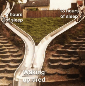 Sleep, Irl, and Me IRL: 13 hours  of sleep  2 hours  of sleep  Waking  up tired Me_irl