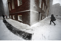 13 MAR: People walk in the wind-driven snow during a winter storm in Boston. The north-eastern US states of New York, New Jersey, Pennsylvania and Virginia have declared states of emergency as a huge winter storm sweeps in, bringing heavy snow. The US National Weather Service issued blizzard warnings from eastern Pennsylvania to south-west Maine. Schools are closed and thousands of flights have been cancelled. The conditions caused German Chancellor Angela Merkel to postpone a trip to Washington to meet President Trump. It has now been rescheduled for Friday. With winds of up to 60mph (100km-h), the storm is expected to cause severe disruption for commuters across many parts of the north-east. In all, about 50 million people across the country have been warned about the severe weather. There has also been heavy snow in other parts of the country. In the state of Wisconsin, four people aged over 60 died in separate incidents while shovelling snow, according US media. PHOTO: Michael Dwyer-AP BBCSnapshot photography photojournalism storm snow usa🇺🇸: 13 MAR: People walk in the wind-driven snow during a winter storm in Boston. The north-eastern US states of New York, New Jersey, Pennsylvania and Virginia have declared states of emergency as a huge winter storm sweeps in, bringing heavy snow. The US National Weather Service issued blizzard warnings from eastern Pennsylvania to south-west Maine. Schools are closed and thousands of flights have been cancelled. The conditions caused German Chancellor Angela Merkel to postpone a trip to Washington to meet President Trump. It has now been rescheduled for Friday. With winds of up to 60mph (100km-h), the storm is expected to cause severe disruption for commuters across many parts of the north-east. In all, about 50 million people across the country have been warned about the severe weather. There has also been heavy snow in other parts of the country. In the state of Wisconsin, four people aged over 60 died in separate incidents while shovelling snow, according US media. PHOTO: Michael Dwyer-AP BBCSnapshot photography photojournalism storm snow usa🇺🇸