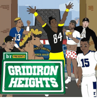 Sports, Browns, and Voice: .13  NIG SRO  br PRESENTS  1 RBER SHOP  GRIDIRON  HEIGHTS Special guest star Antonio Brown (@ab) voices himself on this week's GridironHeights. And business? It's, well, you know...