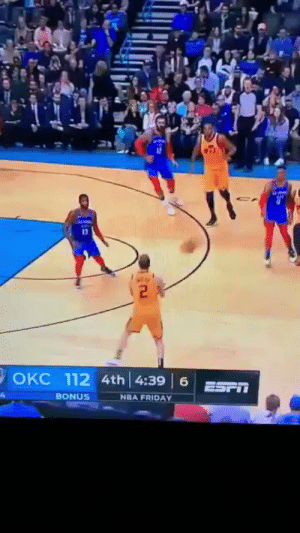 Basketball, Friday, and Nba: 13  OKC 112 4th! 4:39 16 ESFİİ  BONUS  NBA FRIDAY Ingles jab-stepping y'all MVP into another dimension https://t.co/qWMjaInNxm