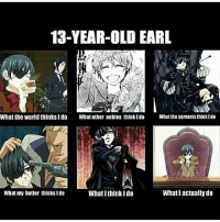 Memes, World, and Old: 13-YEAR-OLD EARL  What the world thinksI do  What other nobles thinkIdo  Whatthe servants thinkI do  What my butler thinksIdo  What I think Ido  What l actually do Xd . . . . . . .