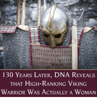 "Books, Children, and Friday: 130 YearS LATER, DNA ReVEALS  THAT HIGH-RANKING VIKING  WARRIOR WAs ACTUALLY A WOMAN For more than a century, archaeologists had assumed the remains of a high-ranking Viking warrior discovered in Birka, Sweden belonged to a man. Now, researchers have used DNA testing to confirm that the warrior, who had been buried with military honors, was actually a woman. The study by a team at Stockholm University, which was published on Friday in the American Journal of Physical Anthropology, confirms that women held high roles in the Viking military and demonstrates the impact that sexist preconceptions can have in scientific research. As the authors observe, since the grave site was first excavated in the 1880s, researchers never considered that the warrior might not be a man: ""This image of the male warrior in a patriarchal society was reinforced by research traditions and contemporary preconceptions. Hence, the biological sex of the individual was taken for granted.""  Charlotte Hedenstierna-Jonson, an archaeologist at Uppsala University, described the grave site, which contained all of the trappings of a high-ranking Viking officer: ""Aside from the complete warrior equipment buried along with her – a sword, an axe, a spear, armor-piercing arrows, a battle knife, shields, and two horses – she had a board game in her lap, or more of a war-planning game used to try out battle tactics and strategies, which indicates she was a powerful military leader. She's most likely planned, led and taken part in battles."" The researchers added that these new findings ""provide a new understanding of the Viking society, the social constructions and also norms in the Viking Age.""  The researchers also note that archaeologists and historians'' attitudes towards the sex of the remains reveal a lot about our own culture: ""As long as the sex is male, the weaponry in the grave not only belong to the interred but also reflects his status as warrior, whereas a female sex has raised doubts,"" they write. ""This type of reasoning takes away the agency of the buried female... The results call for caution against generalizations regarding social orders in past societies."" They further hope that the confirmation that there were high-ranking female warriors in Viking society will encourage more research using modern techniques aimed at creating a more accurate picture of historic cultures: ""This study shows how the combination of ancient genomics, isotope analyses and archaeology can contribute to the rewriting of our understanding of social organization concerning gender, mobility and occupation patterns in past societies.""  To read more about this new discovery in Smithsonian, visit http://bit.ly/2f0BHDB   For books for children and teens about sword-wielding women, check out our blog post, ""16 Books Starring Sword-Wielding Girls and Women,"" at https://www.amightygirl.com/blog/?p=9960  For a few of our favorite books about sword-loving Mighty Girls, we recommend the picture book ""Brave Margaret: An Irish Adventure"" for ages 5 to 9 (https://www.amightygirl.com/brave-margaret), the award-winning ""The Blue Sword"" for ages 9 and up (https://www.amightygirl.com/the-blue-sword), the fantasy classic ""Alanna: The First Adventure"" for ages 11 and up (https://www.amightygirl.com/alanna-the-first-adventure), and the graphic novel ""Delilah Dirk and the Turkish Lieutenant"" for ages 13 and up (https://www.amightygirl.com/delilah-dirk)  And, for books about women's diverse role in history, from ancient times to the modern world, visit our ""History & Biography"" section at https://www.amightygirl.com/books/history-biography"