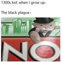 Tumblr, Black, and Blog: 1300s kid: when I grow up-  The black plague fakehistory:  The Black Plague (1347, colorized)
