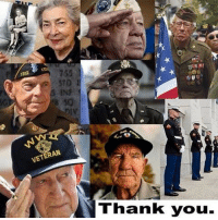 "Memes, Respect, and Slick: 1312  SQ  VETERAN  Thank you. We Are Veterans - We've been called Grunts and Jarheads, Squids and Swabbies, Fly boys and G.I. These were not derogatory terms. These were term of endearment and respect between us. We were Trackers, Tankers, Artillery and Gunners, Fuelers, Mechanics, Pilots and Drivers. Some have seen the horrors of war, while others served between conflicts. There are those who have never heard a shot fired in anger, while others have had those angry shots fired at them. Stories of the scars are proclaimed loudly by some and talked about in muted conversation by others. There are those who have put it all behind them and those who wish they could forget and that the nightmares would stop. Whether their breast is covered with ""fruit salad"" or a single ribbon bar, the crossed rifles of an expert or the ""toilet bowl"" of a beginner. Our uniforms were all different. We had greens, blues, whites and cracker jacks. We either wore stripes or bars. Some had rockers while occasionally we seen a ""slick sleeve"" standing in fear a SGT Major with eight hash marks. Their epaulets were adorned with everything from ""butter bars"" to glistening in the sun with four stars - It don't matter in which branch they chose to serve, despite their MOS, whether or not they shed their blood for a cause greater than themselves, they (we) all share one common title, VETERAN. The eleventh day of the eleven month is set aside to honor those who have served. Those who answered a calling that not all have heard. Those who would lay down their lives if that is what it took - Those who wore a uniform that looked like the one worn by thousands of others before and after them. If you answered the call, wore the uniform, stood tall during colors and still shed a tear during the National Anthem, may I join millions of other Americans on this day and say, Thank You and Happy Veterans Day."
