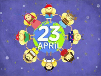Happy, National Sovereignty and Children's Day: 23  G  PRi  J Happy, National Sovereignty and Children's Day
