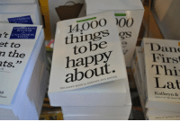 """Book, Happy, and Bee: 14,000  things  et to  n the  ts.""""  Dan  Firs  Thi  Lat  to bee  about.  THE HAPPY BOOK by BAKHARA ANN  Kathryn &"""