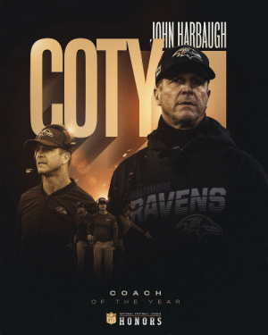 14-2. #1 seed. AFC North Champions.  @Ravens head coach John Harbaugh is the 2019 Coach of the Year! (by @Bose)  📺: #NFLHonors | 8pm ET on FOX https://t.co/RgDauVxBKR: 14-2. #1 seed. AFC North Champions.  @Ravens head coach John Harbaugh is the 2019 Coach of the Year! (by @Bose)  📺: #NFLHonors | 8pm ET on FOX https://t.co/RgDauVxBKR