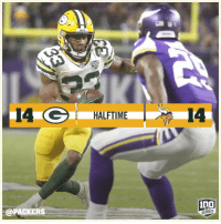 RT @packers: Vikings miss the FG to end the first half!   📰: https://t.co/QDvzROzgUK  #GBvsMIN #GoPackGo https://t.co/BE8PaSeqo6: 14 G HALFTIME  HALFTIME  14  @PACKERS  100  SEASONS RT @packers: Vikings miss the FG to end the first half!   📰: https://t.co/QDvzROzgUK  #GBvsMIN #GoPackGo https://t.co/BE8PaSeqo6