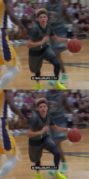 14 year old LaMelo Ball running circles around the court and the crowd thought it was hilarious 😂😂 https://t.co/A6uBdMxsnJ: 14 year old LaMelo Ball running circles around the court and the crowd thought it was hilarious 😂😂 https://t.co/A6uBdMxsnJ