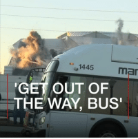 A cameraman had lined up the perfect shot of the demolition of the Georgia Dome. Then this happened... 🤦‍♀️ fail lol funny bus demolition television: 1445  mar  GET OUT OF  THE WAY, BUS A cameraman had lined up the perfect shot of the demolition of the Georgia Dome. Then this happened... 🤦‍♀️ fail lol funny bus demolition television