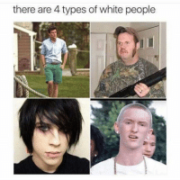 Types Of: there are 4 types of white people