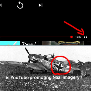 Something to think about by BladesSkate MORE MEMES: 15:30  is YouTube promoting Nazi imagery? Something to think about by BladesSkate MORE MEMES