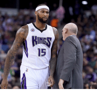 """DeMarcus Cousins reportedly """"stormed into the locker room and cursed out head coach George Karl with a torrent of obscenities"""" after loss vs. Spurs on Monday.: 15 DeMarcus Cousins reportedly """"stormed into the locker room and cursed out head coach George Karl with a torrent of obscenities"""" after loss vs. Spurs on Monday."""