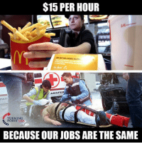 SMH... 🤦♀️🤦♀️🤦♀️: $15 PER HOUR  NGS  % BEEF ANDADOUBLE HELPİNo  ,  ANSFER  PATI  TURNING  POINT USA  BECAUSE OUR JOBS ARE THE SAME SMH... 🤦♀️🤦♀️🤦♀️