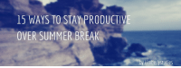 "Books, College, and Facebook: 15 WAYS TO STAY PRODUCTIVE  OVER SUMMER BREAK  by kimberlystudies <p><a href=""http://kimberlystudies.com/post/120915399241/1-teach-yourself-a-useful-skill-like-html-java"" class=""tumblr_blog"">kimberlystudies</a>:</p>  <blockquote><h2>1. Teach yourself a useful skill like HTML, JAVA, or Python</h2><blockquote><p>Free online instructional websites like <a href=""http://www.codecademy.com/"">codeacademy</a> and <a href=""http://www.w3schools.com/"">w3schools</a> are great.<br/></p></blockquote><h2>2. Teach yourself how to cook</h2><blockquote><p>Reverse recipe look-up websites like <a href=""https://www.gojee.com/"">gojee</a> and <a href=""http://www.supercook.com/"">supercook</a> are imperative. <br/></p></blockquote><h2>3. Change your Facebook settings to learn a new language</h2><blockquote><p>Remember when you thought changing your Facebook to Pirate was comedic gold? <br/></p></blockquote><h2>4. Or read magazines online in another language</h2><h2>5. Explore Wikipedia Simple English</h2><p>  You can learn about complicated things in plain, jargon-free, regular, human English.  <br/></p><h2>6. Wikiversity too</h2><h2>7. Go to a lecture without having to physically move</h2><blockquote><p>  <a href=""http://academicearth.org/online-college-courses/"">Academicearth.org</a> has free lectures and course material from universities like MIT, Johns Hopkins, Stanford and Columbia.  <br/></p></blockquote><h2>8. Watch documentaries and TED talks on Netflix</h2><blockquote><p>  Nonfics.com has suggestions for the <a href=""http://nonfics.com/best-documentaries-on-netflix/"">best documentaries currently on Netflix</a> and the <a href=""http://nonfics.com/best-places-watch-documentaries-online/"">best places to find documentaries online.</a> <a href=""http://www.pbs.org/wgbh/pages/frontline/"">PBS</a> is also a great resource, as is this<a href=""http://www.timeout.com/newyork/film/the-50-best-documentaries-of-all-time-documentary"">Timeout</a> ranking of the 50 best documentaries of all time.</p></blockquote><h2>9. If you're a college student, look into discounts and free admissions deals that your school offers for museums/shows</h2><h2>10. Download an app that will restrict you from websites that you spend too much time on</h2><h2>11. Find books that you'll actually want to read</h2><h2>12. Or catch up on the latest and greatest articles that are available on the web</h2><blockquote><p>  <a href=""http://longreads.com/"">Longreads</a> collects magazine pieces and articles for you.  <br/></p></blockquote><h2>13. If you just can't keep your brain focused for an extended period of time, catch up on some short stories</h2><blockquote><p>  Free classics online at <a href=""http://www.classicshorts.com/author.html"">Classic Shorts</a> and American shorts at <a href=""http://americanliterature.com/short-stories"">Americanliterature.com</a>. Resources for <a href=""http://www.openculture.com/2014/04/10-short-stories-by-gabriel-garcia-marquez.html"">Gabriel García Márquez</a> and <a href=""http://www.openculture.com/2013/10/read-14-short-stories-from-nobel-prize-winning-writer-alice-munro-free-online.html"">Alice Munro shorts</a> at Openculture.com and a list that includes George Saunders at <a href=""http://flavorwire.com/379177/10-more-wonderful-short-stories-to-read-for-free-online"">Flavorwire.com</a>.  <br/></p></blockquote><h2>14. Attempt to learn to do something <i>artistic</i> like draw or play the guitar</h2><blockquote><p>  <a href=""http://www.drawspace.com/"">Drawspace.com</a> and <a href=""http://justinguitar.com/"">Justinguitar.com</a> can help with that respectively.  <br/></p></blockquote><h2>15. Listen to podcasts while you commute, cook or wait in line</h2><blockquote><p>  Try <a href=""http://www.radiolab.org/"">Radiolab</a>, <a href=""http://www.stuffyoushouldknow.com/podcasts/"">Stuff You Should Know</a>, <a href=""http://howtodoeverything.org/"">How To Do Everything</a>, <a href=""http://podcasthistoryofourworld.blogspot.com/"">The History of Our World</a>, or Neil Degrasse Tyson's <a href=""http://www.startalkradio.net/"">StarTalk</a>. Check out more podcast suggestions from <a href=""http://collegeinfogeek.com/mind-expanding-podcasts/"">CollegeInfoGeek.com</a>  <br/></p></blockquote><p>happy learning! x</p></blockquote>"