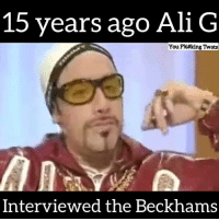 We miss ALI - G!!: 15 years ago Ali G  You F%#king Twats  Interviewed the Beckhams We miss ALI - G!!