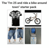 "Starter Packs: The ""I'm 25 and ride a bike around  town"" starter pack"