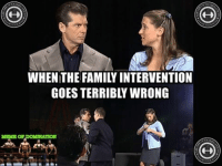 Family Intervention..If this were to ever happen... im guessin this would be the outcome.: WHEN:THE FAMILY INTERVENTION  GOES TERRIBLY WRONG  MEME or,DOMINATION  OF,DONmATION  IN * Family Intervention..If this were to ever happen... im guessin this would be the outcome.