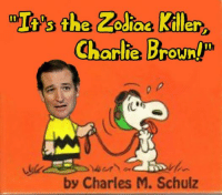 Zodiac Killer: the Zodiac Killer  Charla Brownp  by Charles M. Schulz