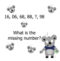 Can you guess? It's not 87: 16, 06, 68, 88, 98  What is the  missing number?  LMH Can you guess? It's not 87
