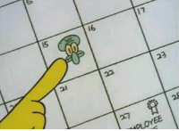 Guys do you know what day it is?  Its annoy squidward day! Share to spread the annoyance of squidward!: 16  23  IMPLOYEE Guys do you know what day it is?  Its annoy squidward day! Share to spread the annoyance of squidward!