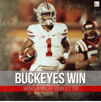 No. 1 Ohio State opens with a 42-24 win over Virginia Tech! Braxton Miller shines at WR, scores 2 TDs. 🏈: 16  BUCKEYES WIN  BRAXTON MILLER SCORES 2 TDS No. 1 Ohio State opens with a 42-24 win over Virginia Tech! Braxton Miller shines at WR, scores 2 TDs. 🏈