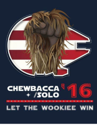 The Hairy Fist of Freedom!  Election Options Spam 19/22  --Wolverine: 16  CHEWBACCA  /SOLO  LET THE WOOKIEE WIN The Hairy Fist of Freedom!  Election Options Spam 19/22  --Wolverine