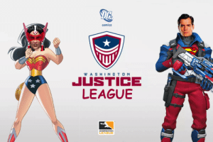 Fresh, Sorry, and Tumblr: 16  comics  WA SHINGTO N  JUSTICE  LEAGUBE  LEAGUE overwatchleaguepride:  Wow, I'm so sorry I forgot to post the Washington DC Justice branding when it came out yesterday!! I'm really excited for it! It looks so cool and fresh but also so timeless (: