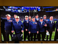Super Bowl, Military, and Bowl: 16 medal of honor recipients are tossing the coin for tonights Super Bowl! Herschel who fought at Iwo Jima is doing the tossing. REAL men!