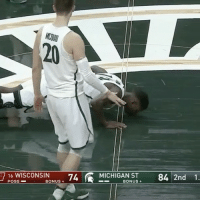 "Repost @sportscenter: ""Why We Love Sports Today: Michigan State senior Eron Harris, who suffered a season-ending knee injury, checked into the game and kissed the Spartan logo one last time."" 🙏 WSHH: 16 WISCONSIN  74 MICHIGAN ST 84 2nd 1.  POSS  BONUS  BONUS  7 Repost @sportscenter: ""Why We Love Sports Today: Michigan State senior Eron Harris, who suffered a season-ending knee injury, checked into the game and kissed the Spartan logo one last time."" 🙏 WSHH"