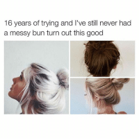 Black, Black Ops 3, and Blacked: 16 years of trying and l've still never had  a messy bun turn out this good Playing black ops 3
