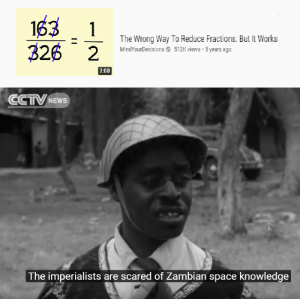 Very fresh format. Invest before it takes off! via /r/MemeEconomy https://ift.tt/2MfE7Mi: 163  326 2  1  The Wrong Way To Reduce Fractions. But It Works  MindYourDecisions O 512K views 5 years ago  2:00  CCTV NEWS  The imperialists are scared of Zambian space knowledge Very fresh format. Invest before it takes off! via /r/MemeEconomy https://ift.tt/2MfE7Mi