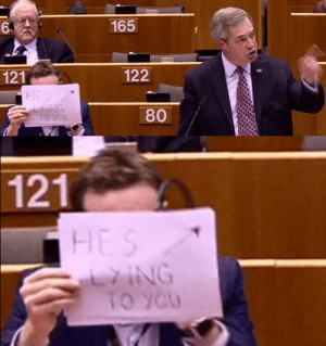 Lol, Muslim, and Tumblr: 165  6.  122  121  80   121 babies-come-with-hats: lol so Nigel Farage was spewing lies about the Muslim ban in the EU parliament today and Seb Dance was having absolutely fuckin none of it