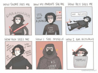 Emo Meme: How SNOKE SEES ME How My PARENTS SEE ME HOW REY SEES ME  IT's  HP o/IODO  NOT  A PHASE  EMO  AND  PROUD  HON Hux SEES ME  How l SEE MYSELF How I Am ACTUAwy  HAIR  UES  TRASH  VADER  FAN  random Pashes