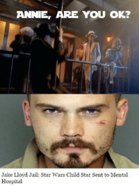 Annie Are You Ok: ARE ANNIE,  YOU OK?  Jake Lloyd Jail: Star Wars Child Star Sent to Mental  Hospital